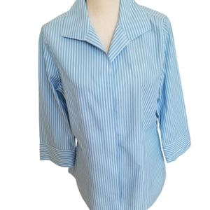 Gold Label Investments Non-Iron Striped Blouse